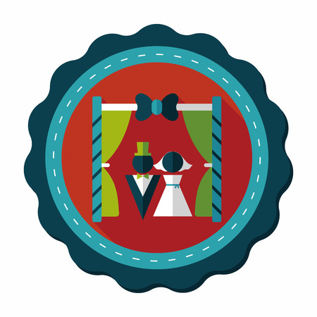 wedding ceremony flat icon with long shadow,eps10