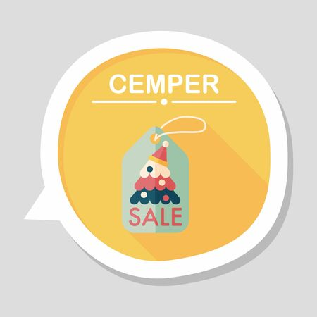 bussiness card: Christmas sale flat icon with long shadow, eps10 Illustration