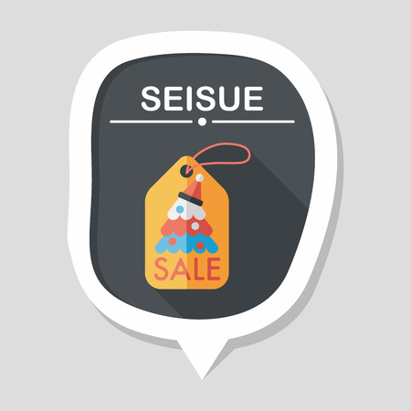 Christmas sale flat icon with long shadow, eps10 Illustration