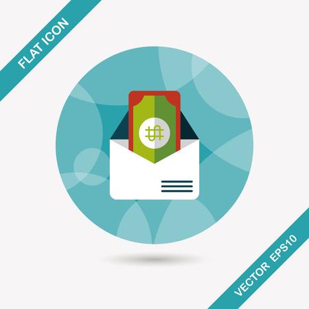 bills: bills flat icon with long shadow,eps10