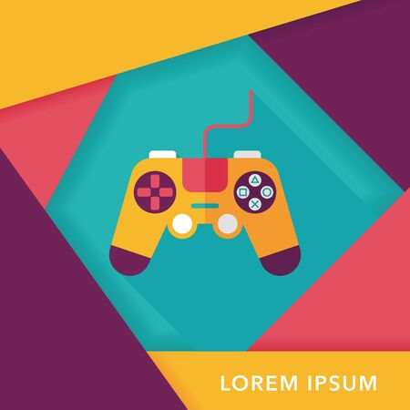 game graphics: joystick flat icon with long shadow,eps10 Illustration