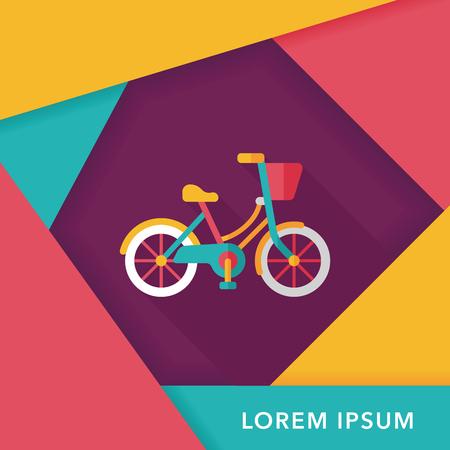 bicyclette: v�lo Transport ic�ne plat avec ombre Illustration