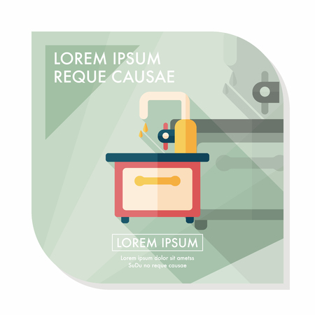 basin: kitchenware sink basin flat icon with logn shadow