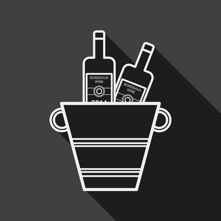 glacial: Ice bottle flat icon with long shadow,eps10 Illustration