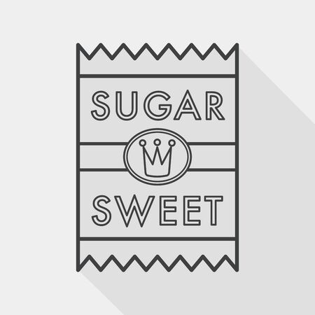 sugar packet flat icon with long shadow,eps10 Vectores