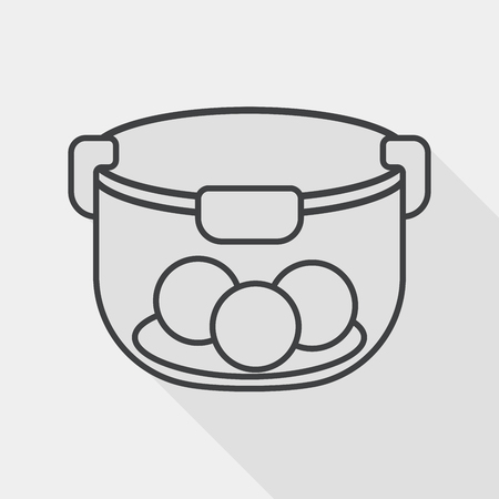 kitchenware preserving container flat icon with long shadow Illustration