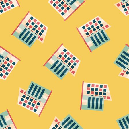 Building flat icon seamless pattern background Vector