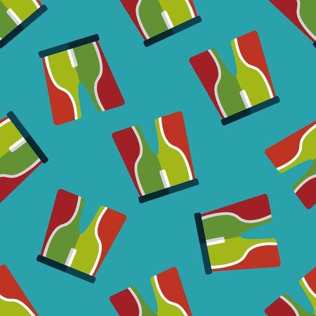 cycling shorts: cycling shorts flat icon seamless pattern background