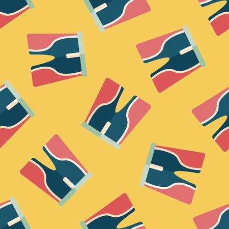 cycling shorts: cycling shorts flat icon,eps10 seamless pattern background Illustration
