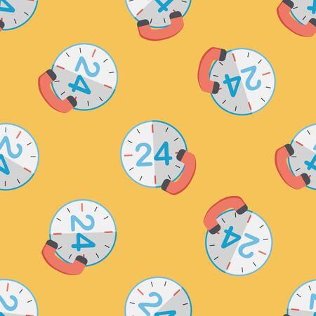 24: 24 hours customer phone service flat icon Illustration