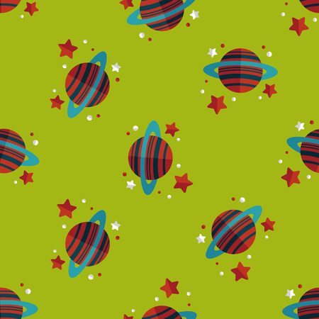 environmental science: Space planet flat icon,eps10 seamless pattern background