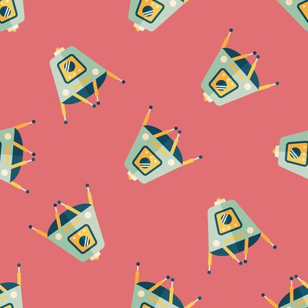 rover: Space Rover flat icon,eps10 seamless pattern background