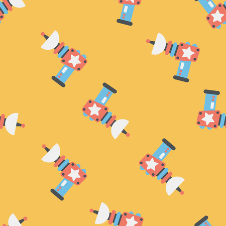 raygun: Space gun flat icon,eps10 seamless pattern background