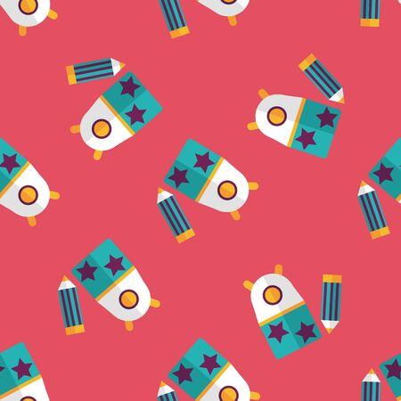 sharpener: Pencil sharpener flat icon seamless pattern background
