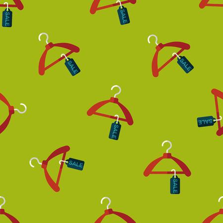 coathanger: shopping clothes hanger flat icon Illustration