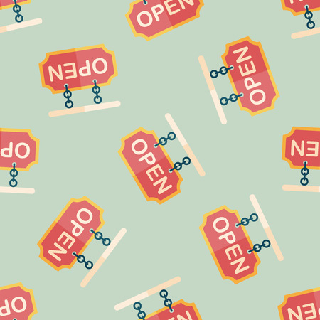 shopping store sign flat icon,eps10 seamless pattern background