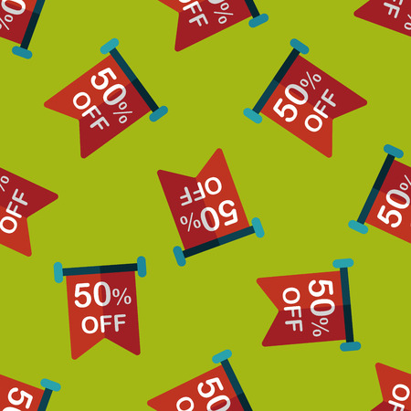 sale sign: shopping sale sign flag flat icon Illustration