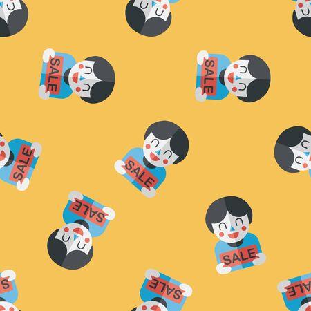 shopaholic: SALE Shopaholic flat icon Illustration