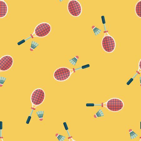 badminton racket: badminton racket and ball flat icon