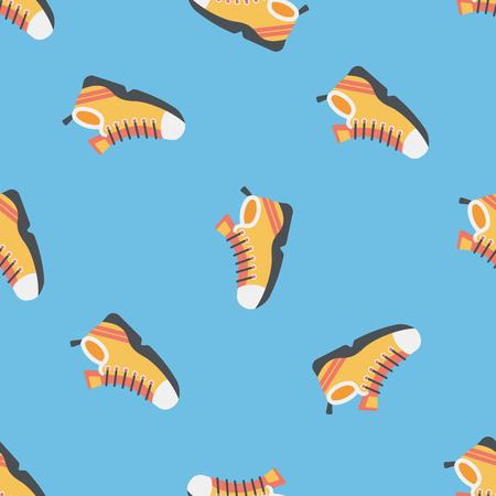 sneaker flat icon seamless pattern background