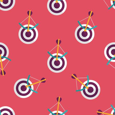 target flat icon seamless pattern background
