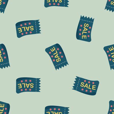 cutoff: shopping sale coupon flat icon Illustration