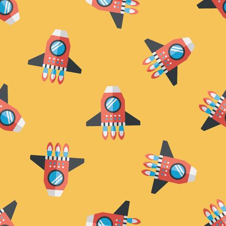 raumschiff: Spaceship flach icon nahtlose Muster Hintergrund