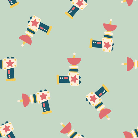 raygun: Space gun flat icon seamless pattern background