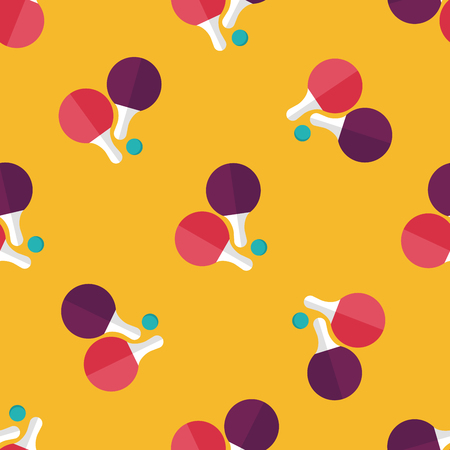 table tennis: table tennis racket flat icon seamless pattern background