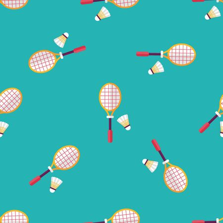 badminton: badminton racket and ball flat icon