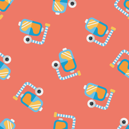 Mask and snorkel flat icon Vector