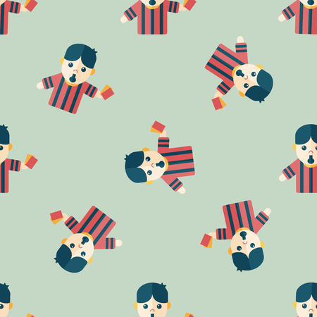 soccer referee: soccer referee flat icon Illustration