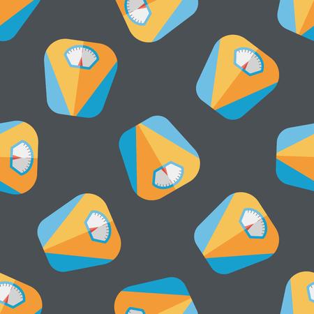 svelte: Weight scale flat icon seamless pattern background