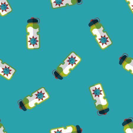 portability: sports water bottle flat icon