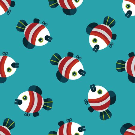 angling rod: fish toy flat icon,eps 10 seamless pattern background