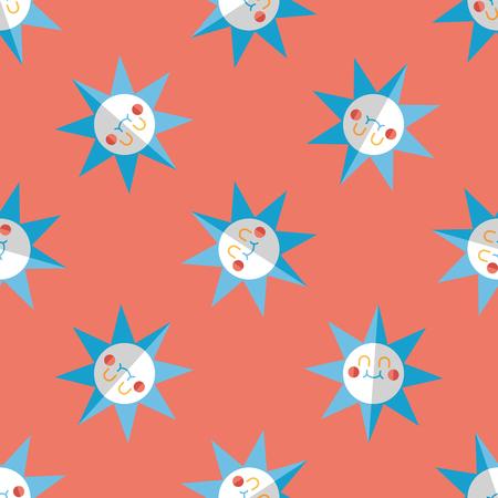 sun flat icon,eps10 seamless pattern background 向量圖像