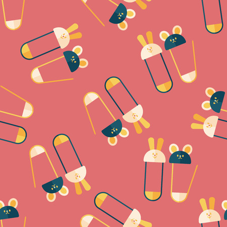 safety pin: Safety pin flat icon,EPS 10 seamless pattern background