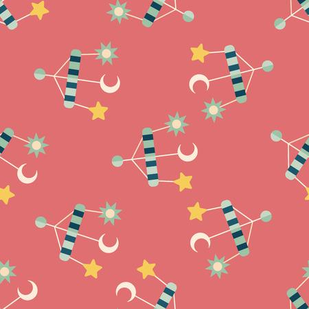 hanging toy: Baby crib hanging toy flat icon,eps 10 seamless pattern background Illustration