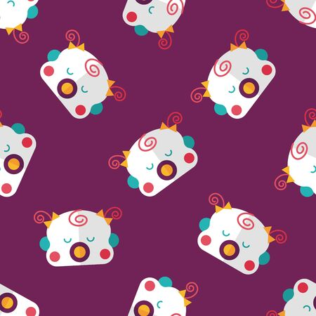 gril: baby gril flat icon,esp10 seamless pattern background
