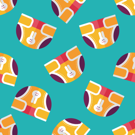 pampers: diaper flat icon,EPS 10 seamless pattern background