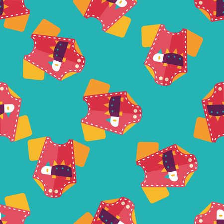 onesie: baby onesie flat icon,EPS 10 seamless pattern background