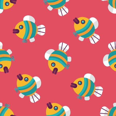plastic backdrop: fish toy flat icon,eps 10 seamless pattern background
