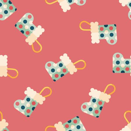 christmas stocking: Christmas stocking flat icon,EPS 10 seamless pattern background Illustration