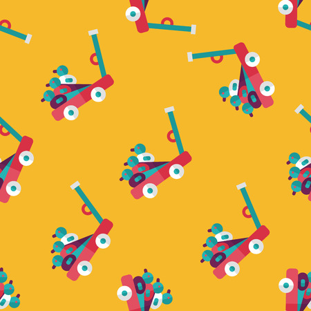 isolation backdrop: toy duck cart flat icon,eps10 seamless pattern background