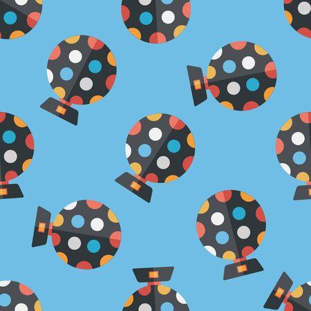 disco lights: disco lights flat icon,eps10 seamless pattern background Illustration