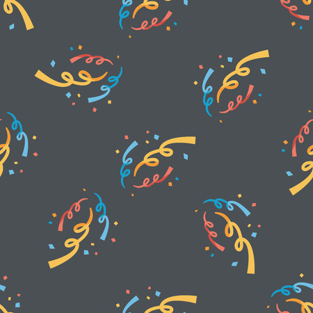 confetti flat icon,eps10 seamless pattern background Vector