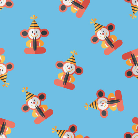 monkey toy flat icon,eps10 seamless pattern background