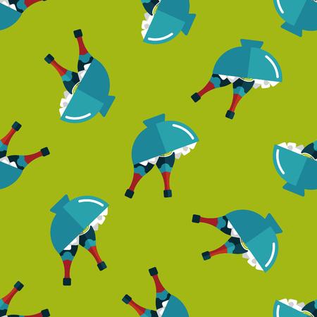 glacial: Ice bottle flat icon,eps10 seamless pattern background Illustration