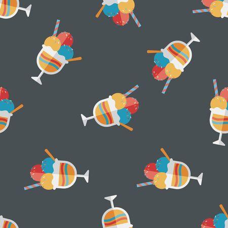 chock: ice cream flat icon,eps10 seamless pattern background Illustration