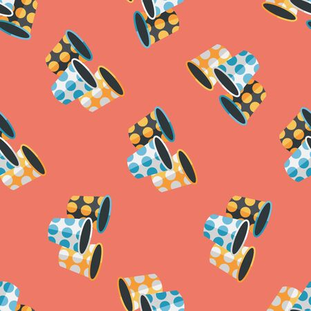 plastic backdrop: Paper Cup flat icon,eps10 seamless pattern background Illustration